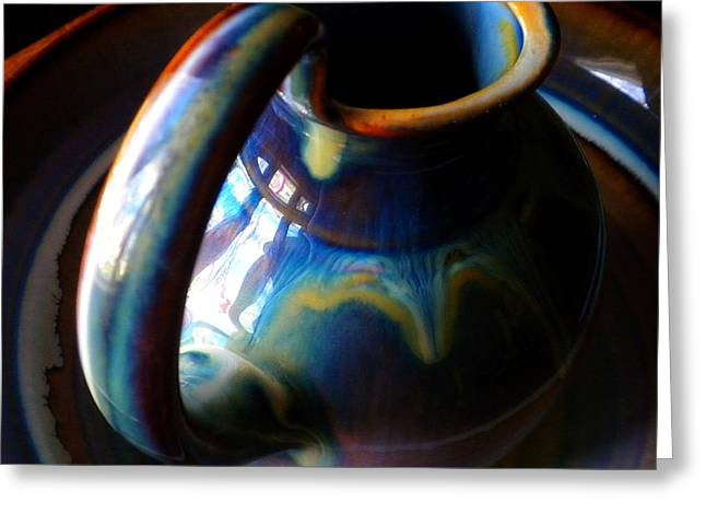 Best Sellers -  - Pottery Pitcher Greeting Cards - Clay Pitcher Greeting Card by Kristen Cavanaugh