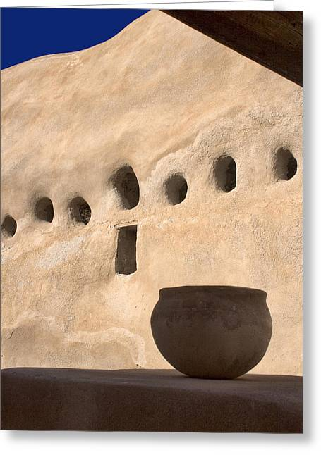Native American Olla Greeting Cards - Clay Pot Greeting Card by Carol Leigh