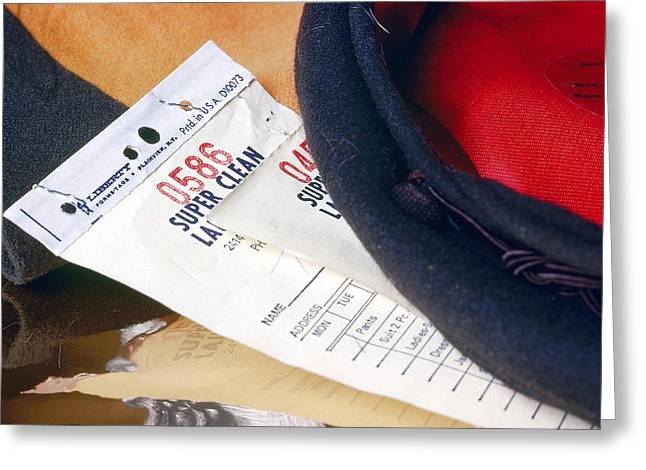 Receipt Greeting Cards - Cleaning Ticket Greeting Card by Jan Faul