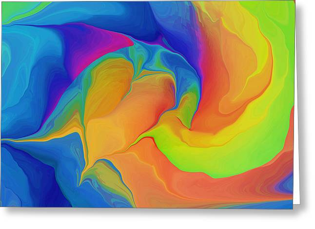 Generative Abstract Greeting Cards - Cleansing The Heart Greeting Card by Deborah Benoit