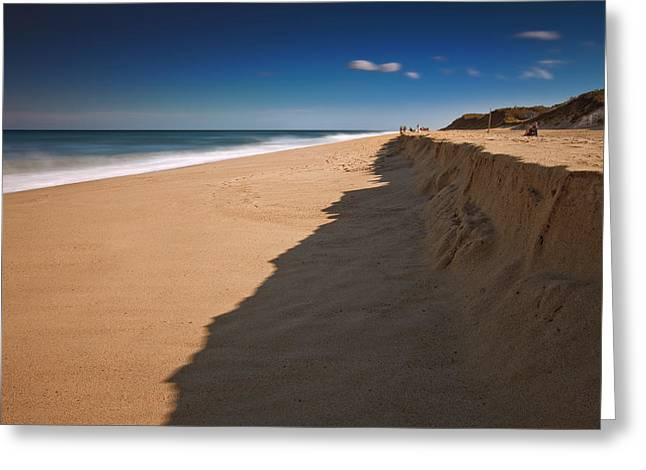 Beach Scenery Greeting Cards - Clear Blue Sky Over Ocean Greeting Card by Dapixara Art