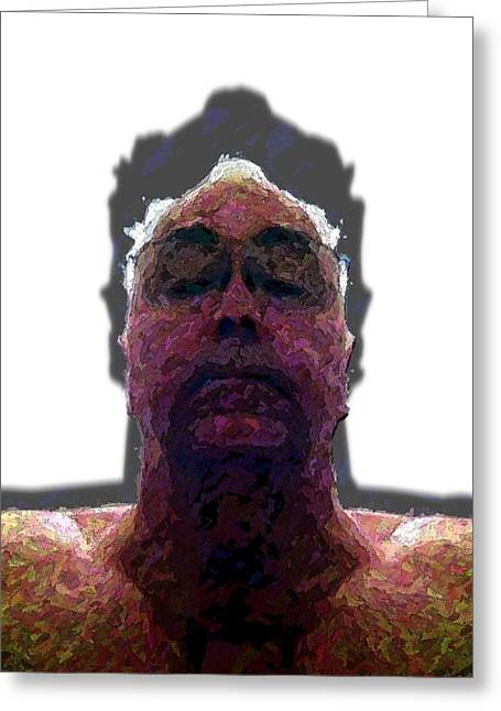 Self-portrait Greeting Cards - Clear Mind Greeting Card by Ron Bissett