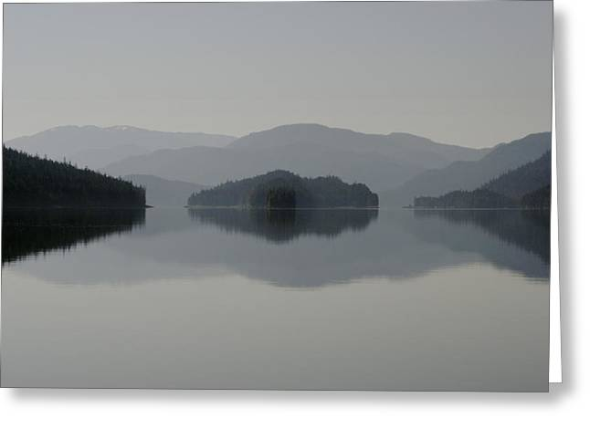 Sitka Greeting Cards - Clearing Fog Hangs Above Islands Greeting Card by Melissa Farlow