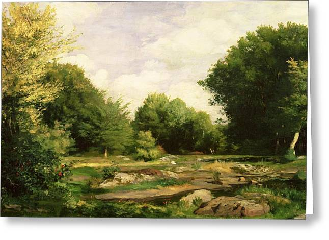 Renoir Greeting Cards - Clearing in the Woods Greeting Card by Pierre Auguste Renoir