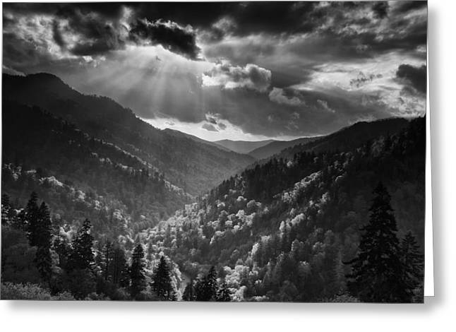 Receding Greeting Cards - Clearing Storm Greeting Card by Andrew Soundarajan
