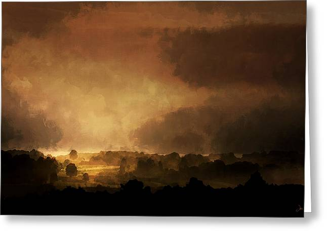 Clearing Storm Greeting Card by Ron Jones