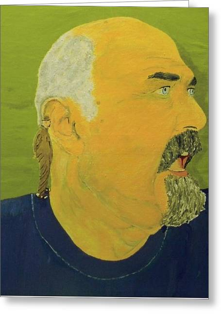 Sanity Greeting Cards - Clearly a Voice Speaks to Gilbert Greeting Card by Gilbert Bernhardt