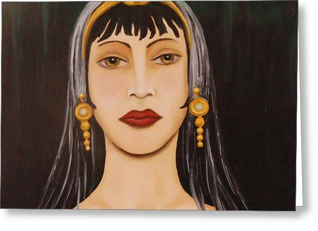 Cleo Greeting Card by Leah Saulnier The Painting Maniac