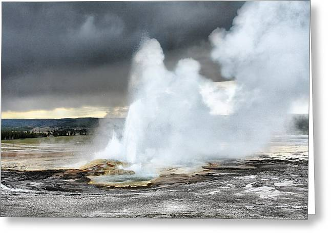 West Yellowstone Greeting Cards - Clepsydra Geyser West Yellowstone National Park USA WY Greeting Card by Christine Till