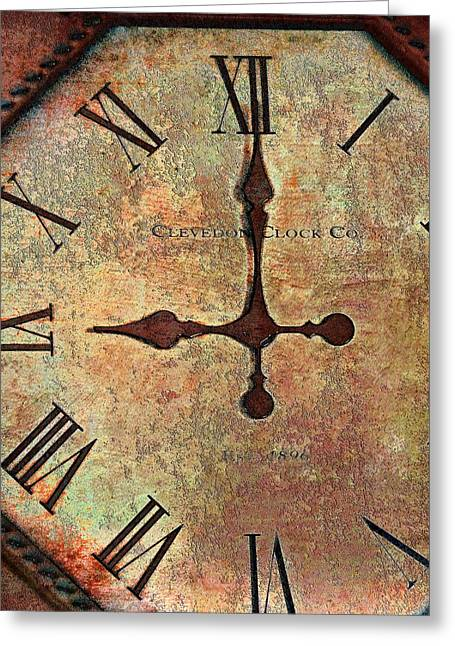 Clevedon Clock Greeting Card by Robert Smith