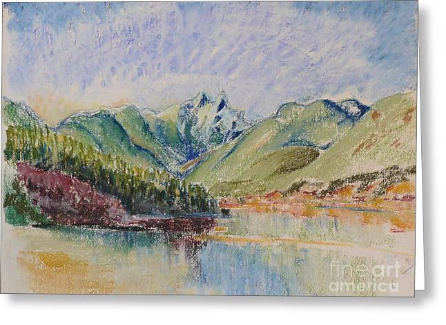 British Columbia Pastels Greeting Cards - Cleveland Dam Greeting Card by Vis Community