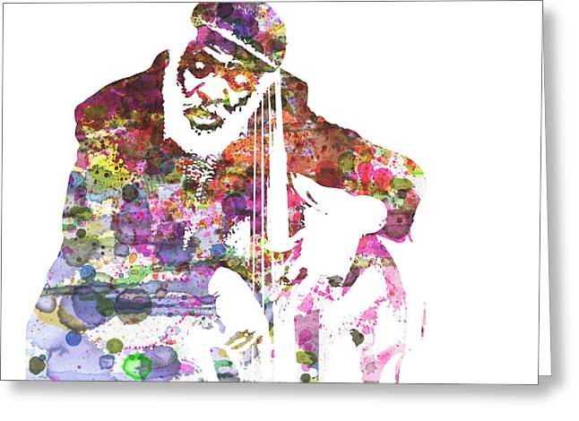 Saxophones Greeting Cards - Cleveland Eaton Greeting Card by Naxart Studio