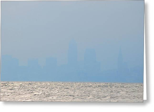 Cleveland Ohio Greeting Card by Peter  McIntosh