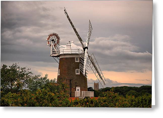 Cley Windmill Greeting Card by Chris Thaxter