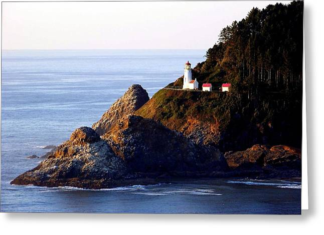California Lighthouse Greeting Cards - Cliff Dwellers Greeting Card by Karen Wiles