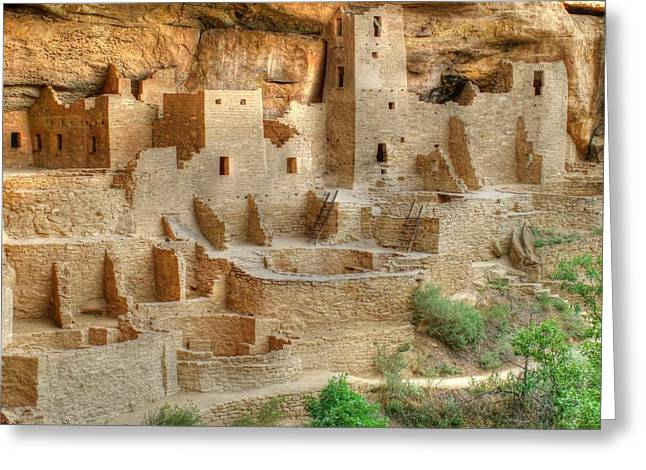 Landsape Greeting Cards - Cliff Dwellings  Greeting Card by Ken Smith