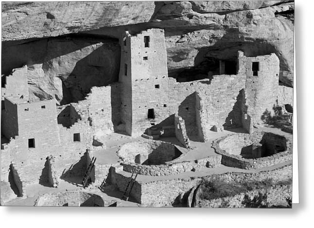 Cliffs Pyrography Greeting Cards - Cliff Palace New Mexico Greeting Card by Will Edwards