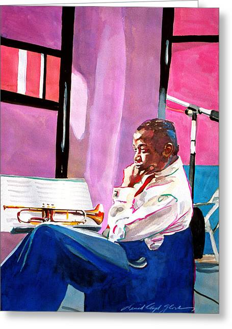 Jazz Player Greeting Cards - Clifford Brown studio recording Greeting Card by David Lloyd Glover