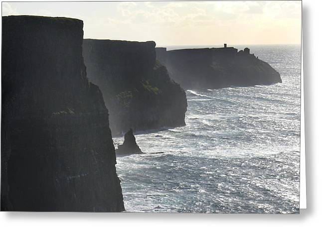 Misty Landscape Greeting Cards - Cliffs of Moher 1 Greeting Card by Mike McGlothlen
