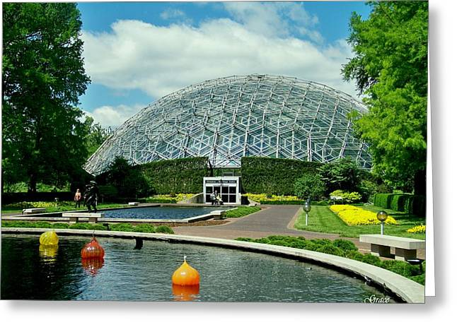 Dome Greeting Cards - Climatron Dome Greeting Card by Julie  Grace