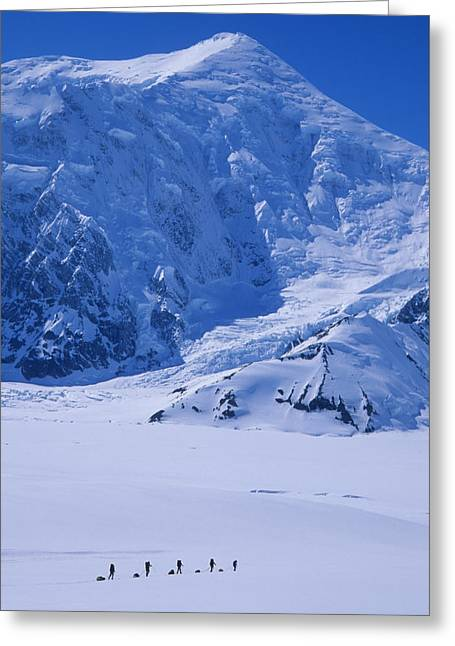 30-35 Years Greeting Cards - Climbing Expedition Passes Below Mount Greeting Card by Bill Hatcher