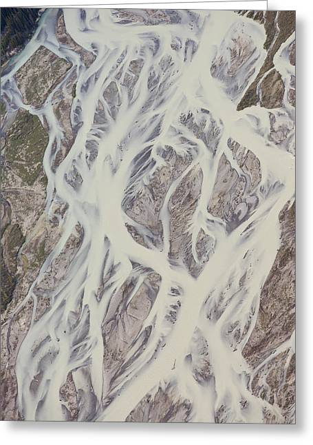 Braiding Greeting Cards - Cline River Showing Heavy Siltation Greeting Card by Matthias Breiter
