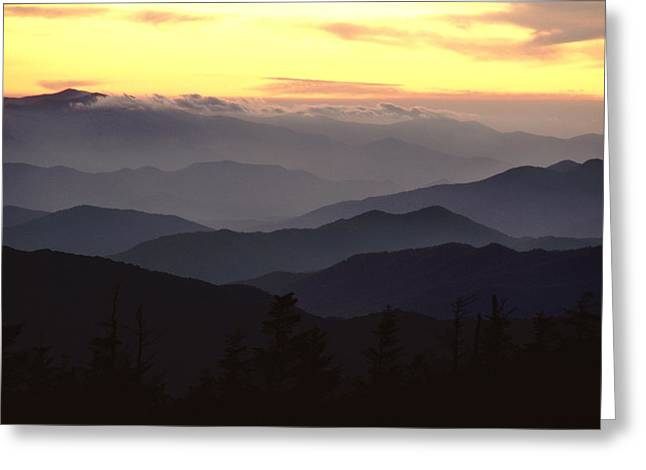 Clingmans Dome Is The Highest Point Greeting Card by James P. Blair