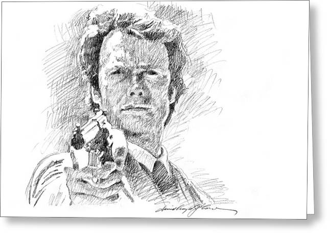 Choices Greeting Cards - Clint Eastwood as Callahan Greeting Card by David Lloyd Glover