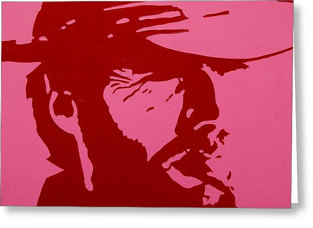 Cigar Paintings Greeting Cards - Clint Greeting Card by John  Nolan