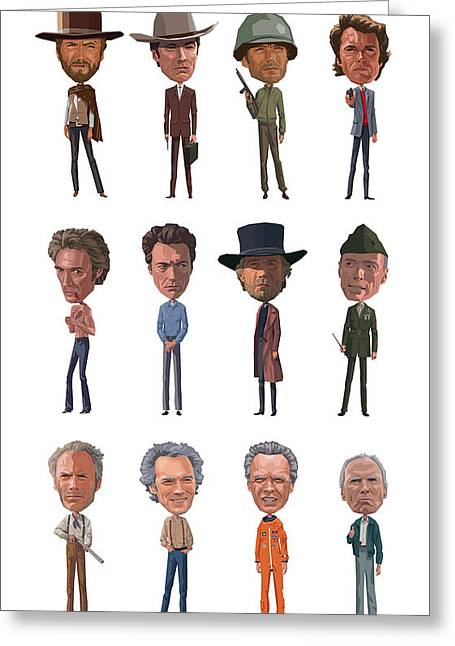 Unforgiven Greeting Cards - Clint Greeting Card by Mitch Frey