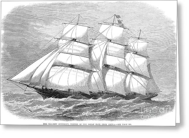 China Clippers Greeting Cards - Clipper Ship, 1868 Greeting Card by Granger