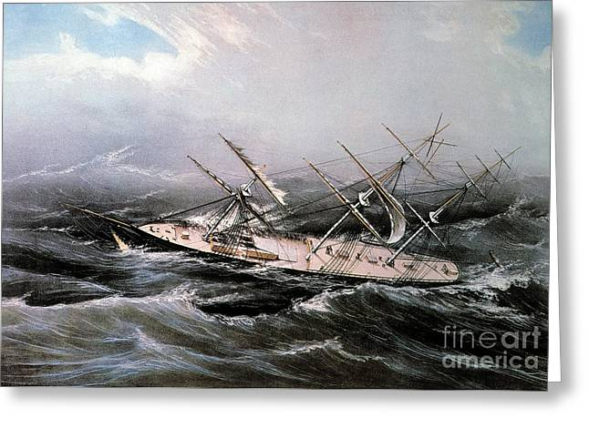 Sailing Ship Greeting Cards - Clipper Ship Comet, 1855 Greeting Card by Granger