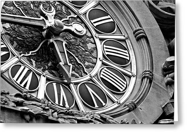 Clock Face Greeting Card by ArtyZen Studios