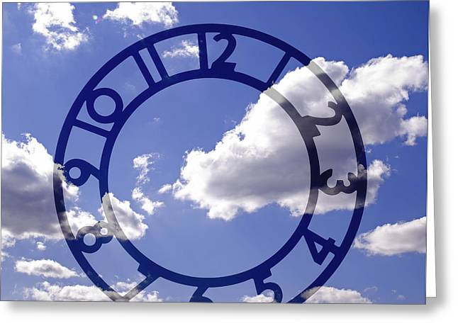 Clock Photographs Greeting Cards - Clock face concept Greeting Card by Tony Cordoza