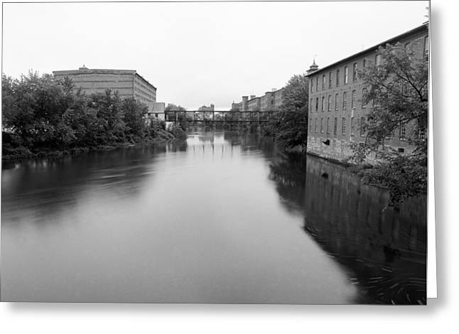 Clock Tower Mill Nashua Greeting Card by Jan Faul