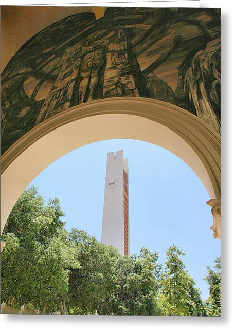 Clock Tower Greeting Card by Steven Ainsworth