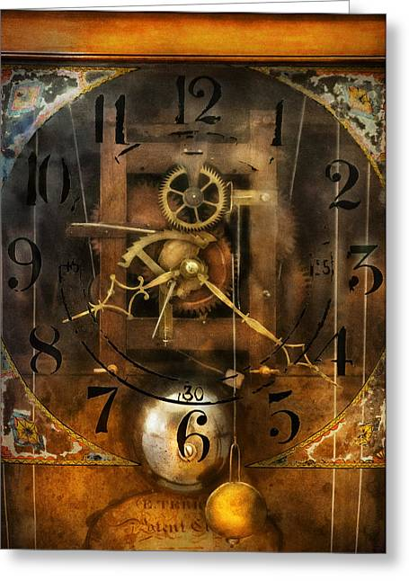 Mechanism Photographs Greeting Cards - Clockmaker - A sharp looking time piece Greeting Card by Mike Savad