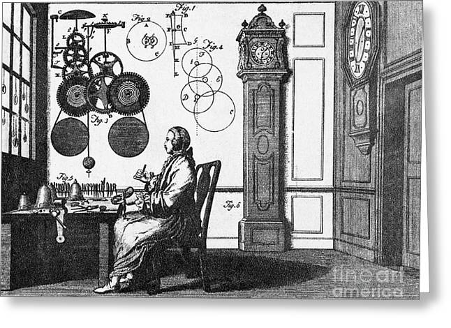 Mechanism Photographs Greeting Cards - Clockmaker Greeting Card by Science Source