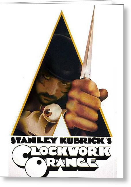 Kubrick Greeting Cards - Clockwork Orange Greeting Card by Alessandro Della Pietra