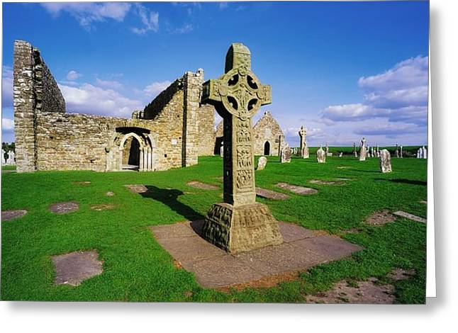 Clonmacnoise, Co Offaly, Ireland High Greeting Card by The Irish Image Collection