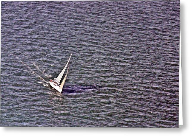 Wind In The Sails Greeting Cards - Close Hauled Greeting Card by Duncan Pearson