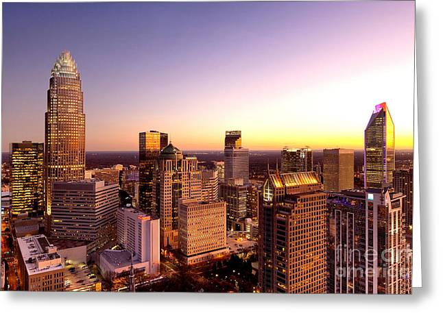 Dnc Greeting Cards - Close-in Charlotte NC skyline photo Greeting Card by Patrick Schneider