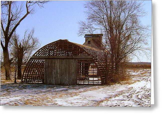 Illinois Barns Photographs Greeting Cards - Close the Door... Greeting Card by Claude Oesterreicher