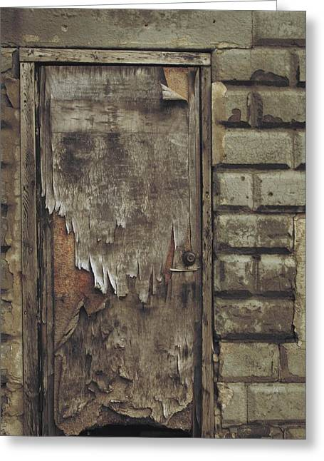 Old Door Greeting Cards - Close The Door Greeting Card by Odd Jeppesen