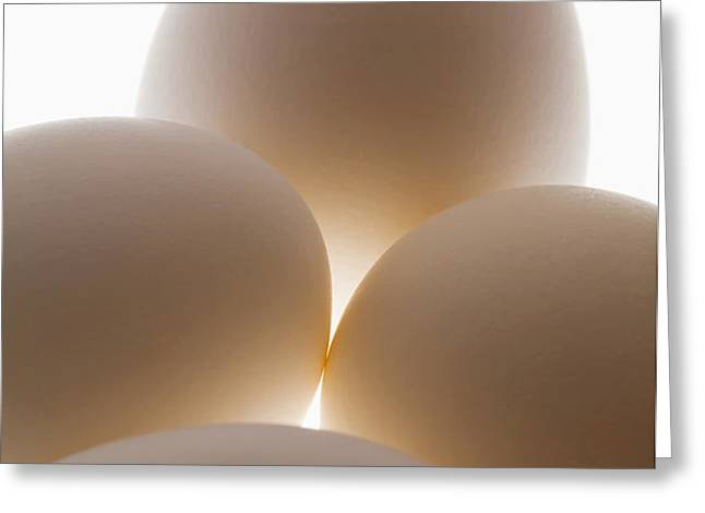 Close Up Of A Group Of Eggs Calgary Greeting Card by Michael Interisano