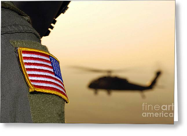 Utility Aircraft Greeting Cards - Close-up Of A U.s. Flag Patch Greeting Card by Stocktrek Images