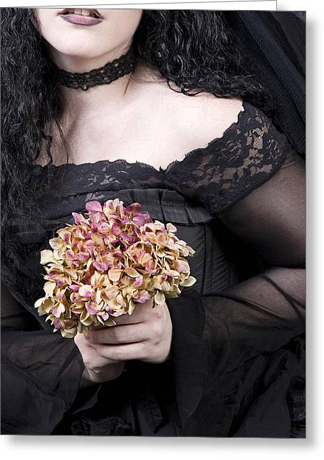 Evening Dress Greeting Cards - Close Up Of Beautiful Young Woman Greeting Card by Ethiriel  Photography