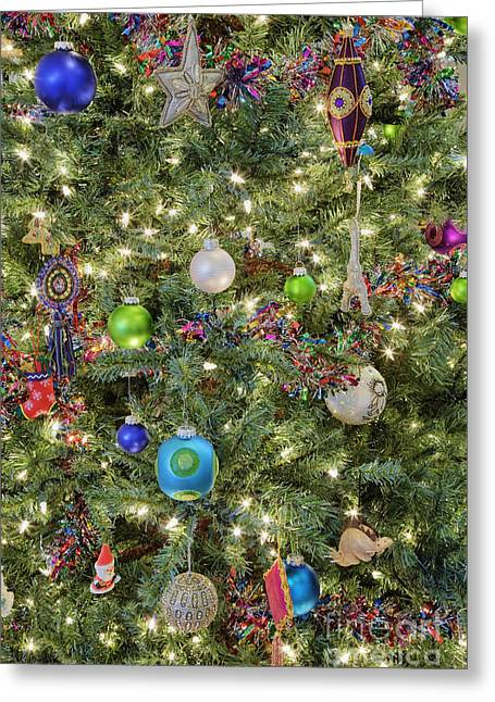 Festivities Greeting Cards - Close-up of Christmas Tree Greeting Card by Jeremy Woodhouse