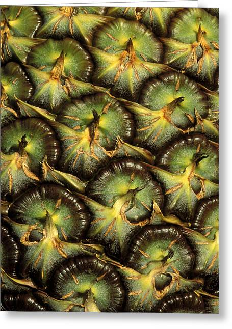 Cuisine Art Greeting Cards - Close-Up Of Pineapple Greeting Card by Greg Vaughn - Printscapes
