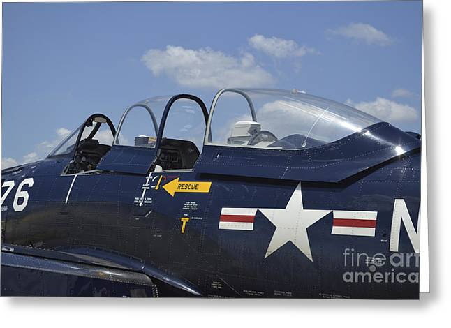 Us Open Photographs Greeting Cards - Close-up Of The Cockpit Of A T-28 Greeting Card by Stocktrek Images